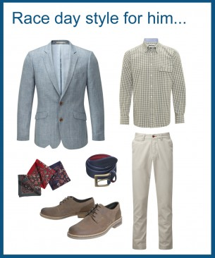 Race day style for him...