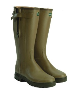 Men's Le Chameau Chasseur Leather Lined Wellingtons