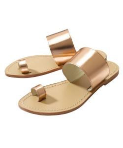 Women's Elia B Clean Cut Rose Gold Slider Sandals