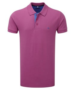 Men's Magee Andy Raspberry Polo Shirt