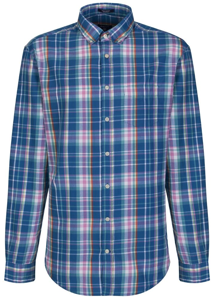 Sharp Blue Chequered Birdie Madras Gant Shirt