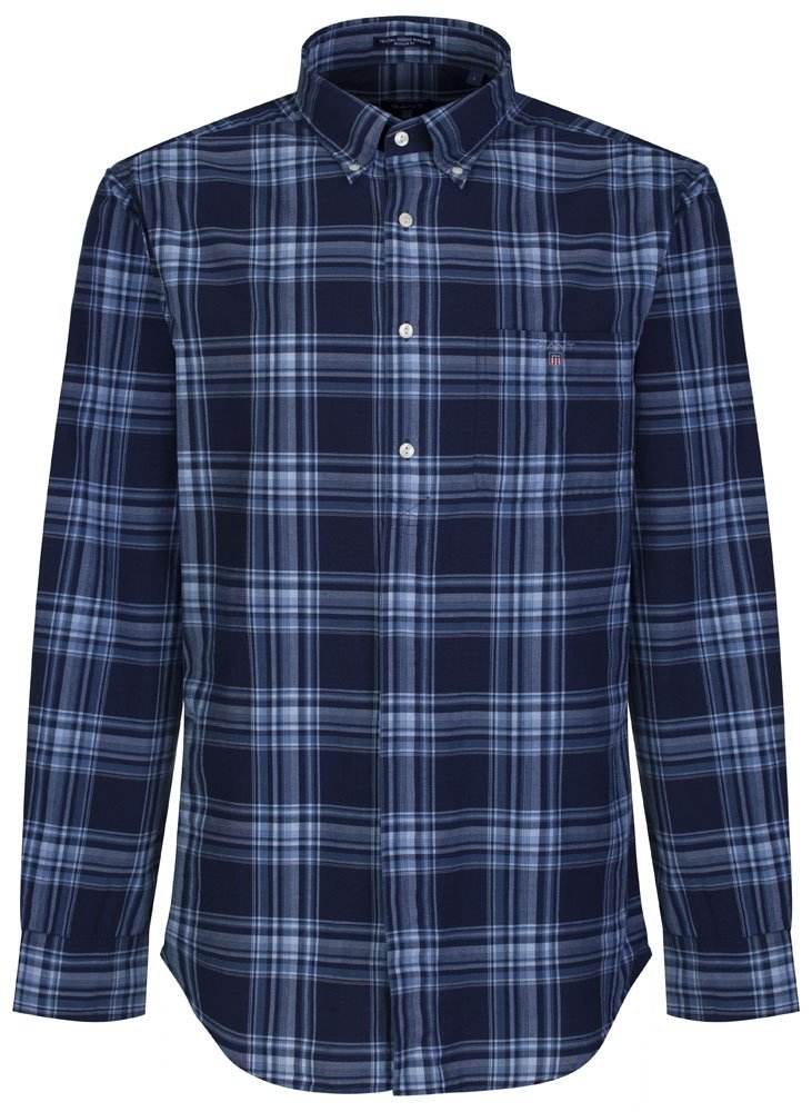 Navy Blue Check GANT Shirt