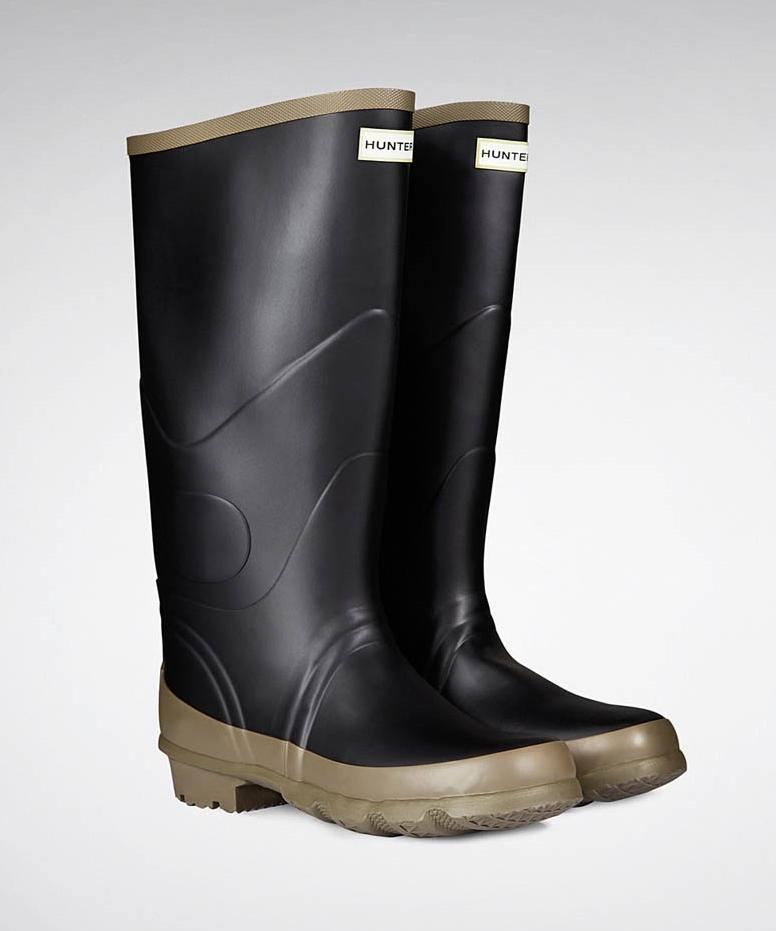 Black Hunter Argyll Bullseye Full Knee Wellington Boots