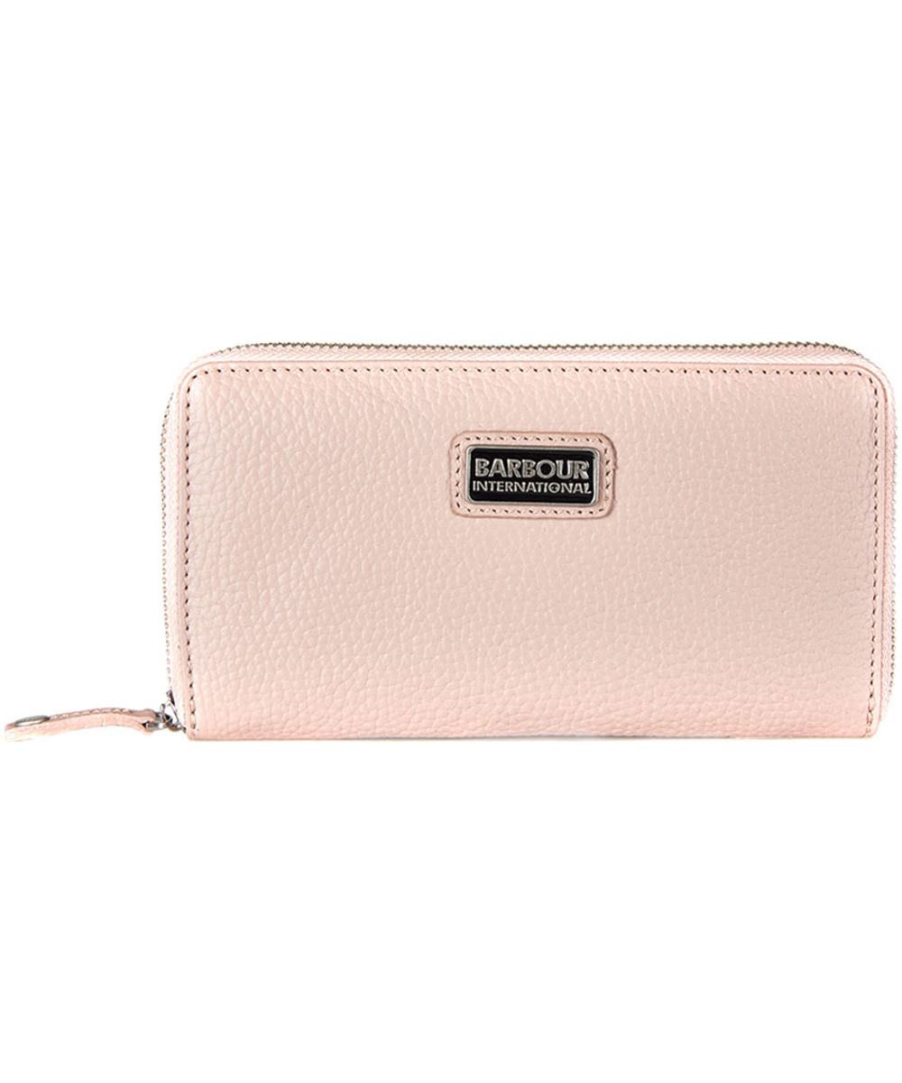 Barbour International Pink Leather Purse
