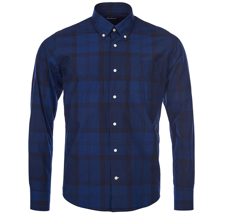Navy Men's Barbour Pennith Check Shirt