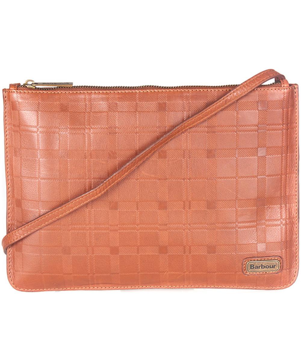 Women's Barbour Tartan Leather Clutch Bag