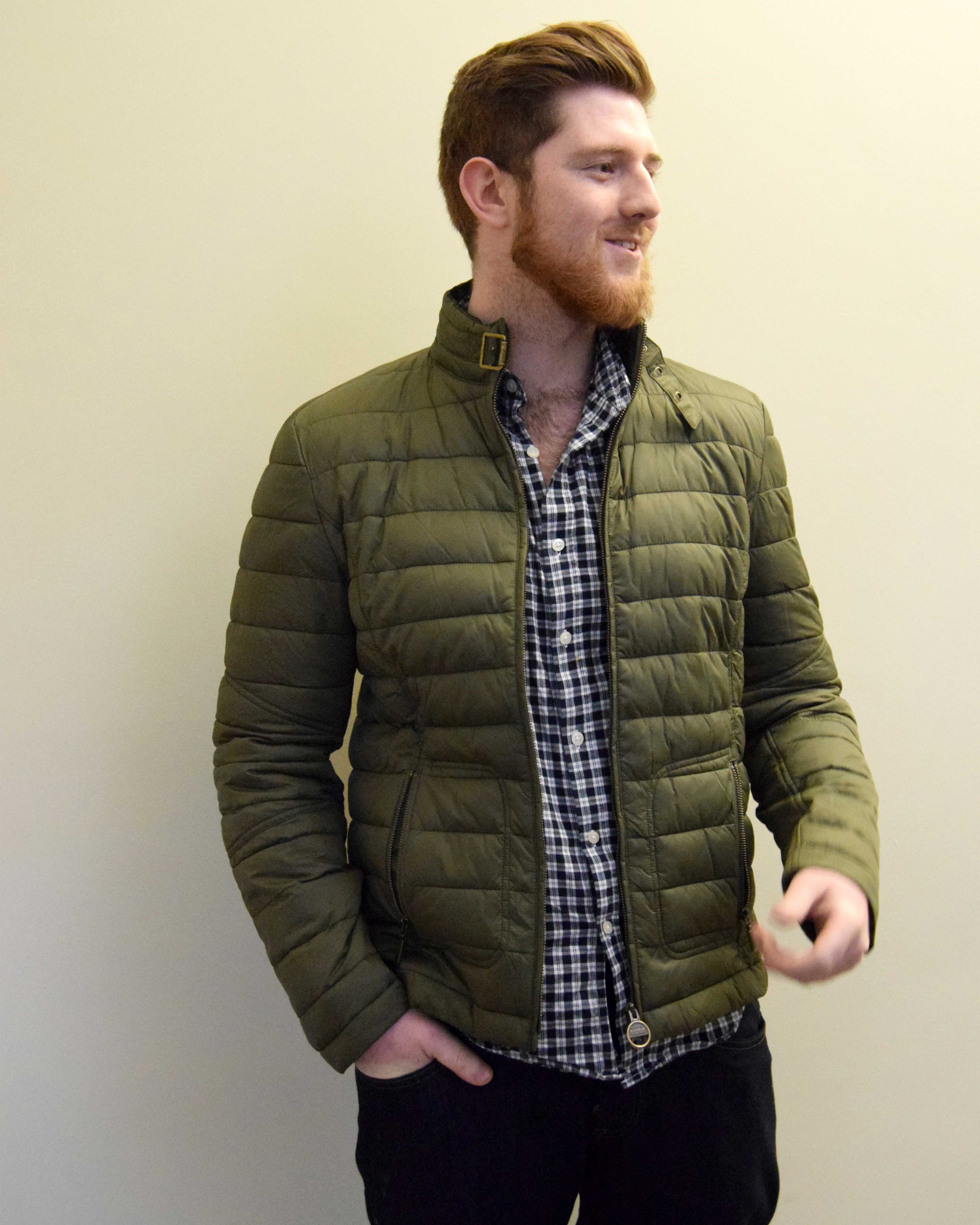 Men's Olive Green Barbour International Hartwell Tailored Jacket