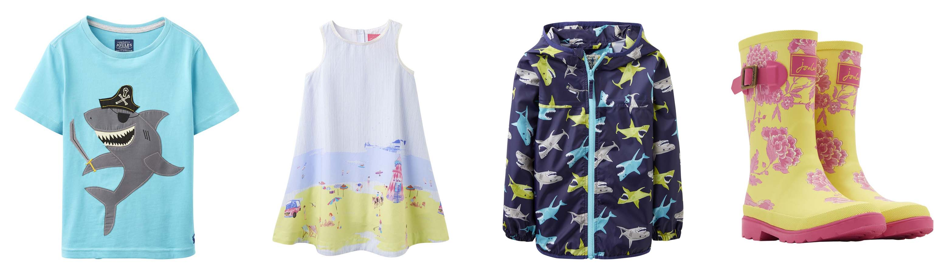 colourful joules clothing for children, joules kids coats, joules girls dresses, joules kids