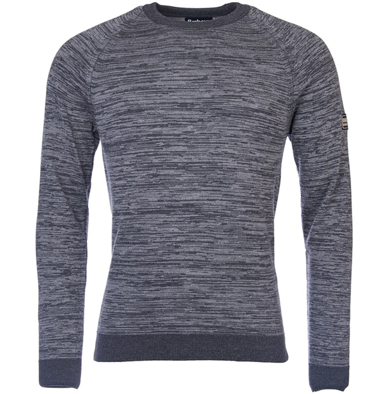 mens barbour international grey knitted sweater