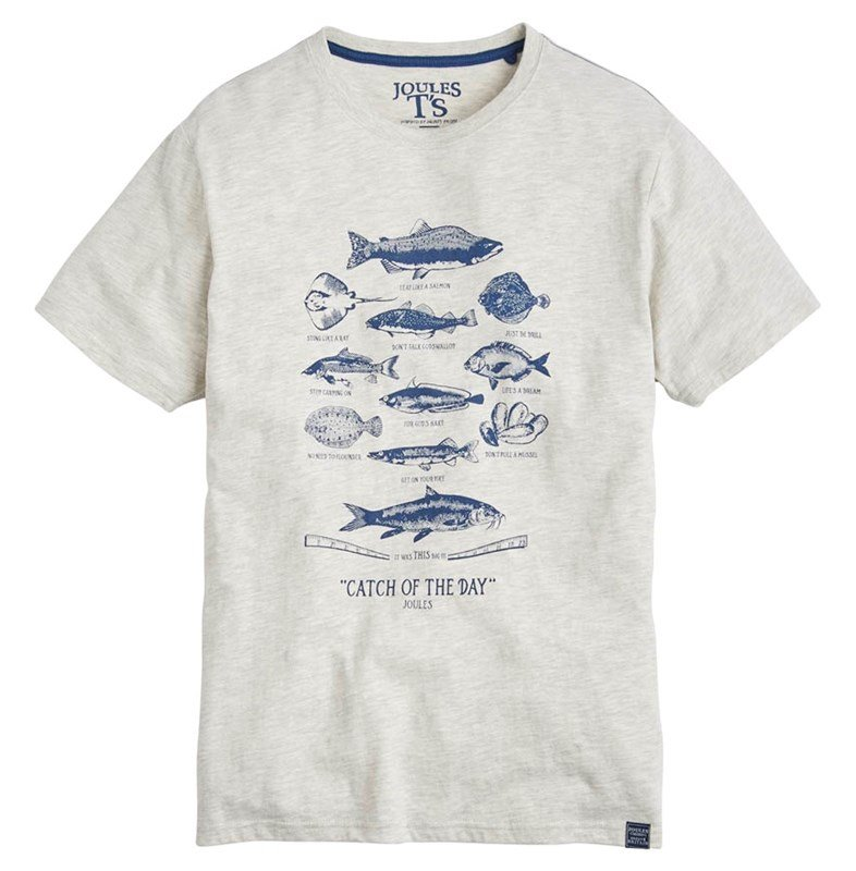 joules mens t-shirt with sealife detail