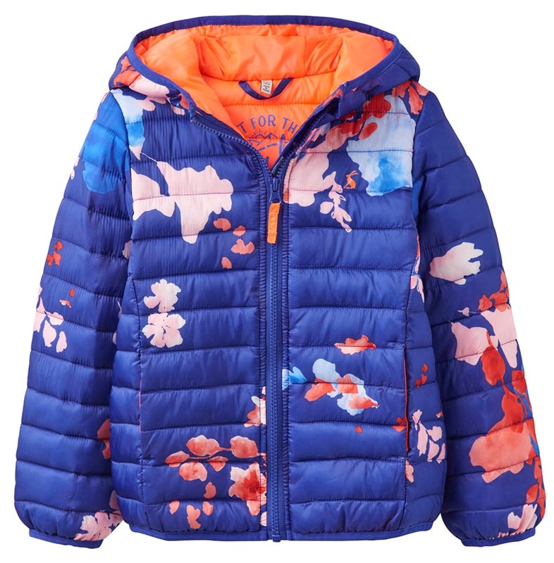 patterned joules padded girls jacket