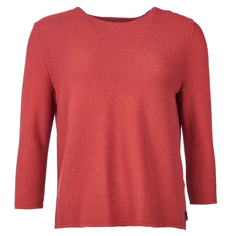 Barbour womens knitted sweater in rust shade