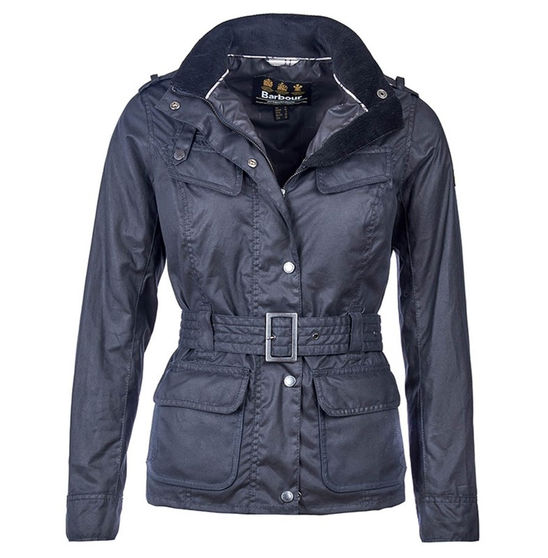 womens barbour international waxed jacket