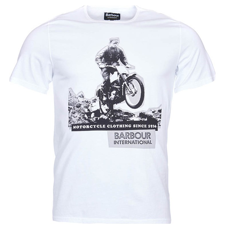 mens barbour international graphic print tee