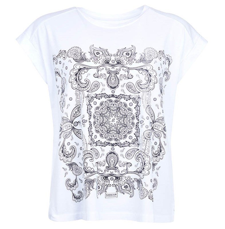 barbour international womens printed t-shirt