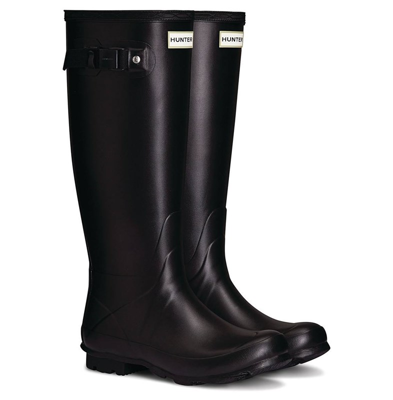 black hunter wellies