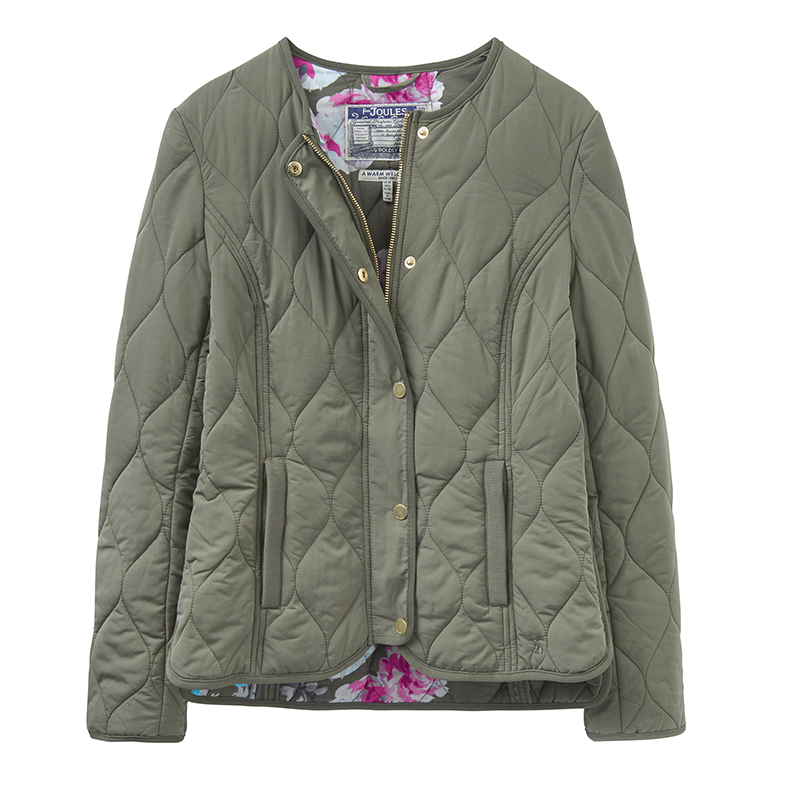 joules khaki quilted jacket